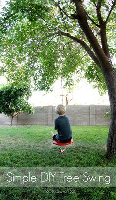 Simple DIY Tree Swing