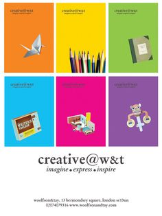 We're all excited 'cos we've just created a brand new space at W - it's called Creative@W Read about it here: http://www.woolfsonandtay.com/1/post/2012/09/introducing-creativewt.html