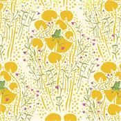 Far Far Away Frogs in Yellow by Heather Ross for Windham Fabrics 39661-6