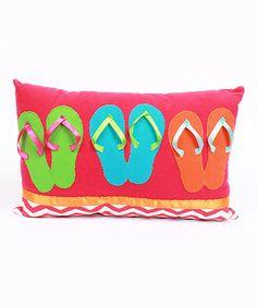 Another great find on #zulily! Red Flip Flop Throw Pillow #zulilyfinds