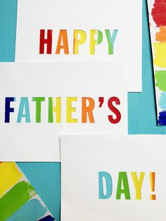 An easy and colorful DIY Father's Day card or sign. The perfect Father's Day craft idea!