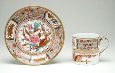 Cup and Saucer, Josiah Spode II  circa 1800, LACMA Collections Online