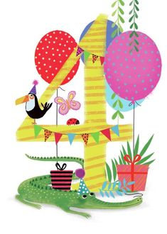 simple first birthday party Happy Birthday Clip Art, Birthday Wishes For Kids, Birthday Clips, Happy 4th Birthday, Birthday Posts, Happy Birthday Pictures, Adult Birthday Party, Birthday Numbers, Art Birthday