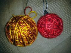 Ornaments made with wool.