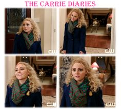 Carrie Bradshaw from The Carrie Diaries was wearing a D bold leopard print infinity scarf! #thecarriediaries #scarf #accessories #fashion