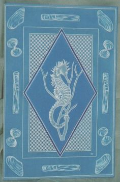 I made this card, with seahorse and shells, for an old family friend.