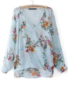 blusa con estampado azul - Buscar con Google