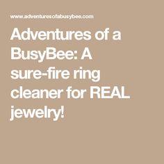 Best 25 Ring Cleaner Ideas On Pinterest Diy Jewellery