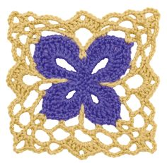 "Free pattern for ""Crochet Floral Block: Butterfly Square""!"