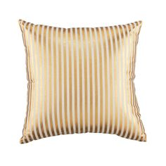 Pinstripe Pillow (Gold)  | The Land of Nod