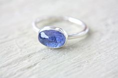 Tanzanite Engagement Ring Sterling Silver by ManariDesign on Etsy, $135.00