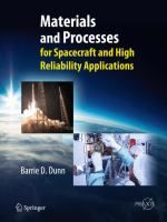 """Read """"Materials and Processes for Spacecraft and High Reliability Applications"""" by Barrie D. Dunn available from Rakuten Kobo. The objective of this book is to assist scientists and engineers select the ideal material or manufacturing process for . Urdu Novels, Reading Material, Spacecraft, Free Books, Problem Solving, Investigations, Case Study, The Book, Ebooks"""