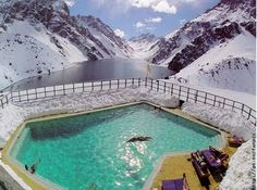 Lagun del Inca, Portillo  - The Andes, Chile...Ski in the mornig, swim in the afternoon