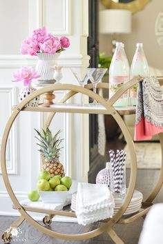 Shop Around the House: How to Style a Bar Cart in 10 Minutes or Less - Kelley Nan