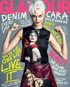 #CaraDelevingne covers the latest issue of #Glamour Magazine #beauty #style #chic #glam #haute #couture #design #luxury #lifestyle #prive #moda #instafashion #Instastyle #instabeauty #instaglam #fashionista #instalike #streetstyle #fashion #photo #ootd #model #blogger #photography