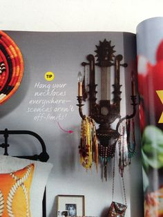 Sconce as jewelry display