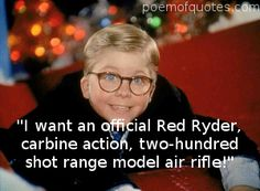 Ralphie giving it his all to get his favorite gift. From A Christmas Story.