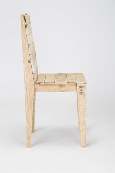 Reclaimed Timber Dining Chair by GasandAirStudios on Etsy