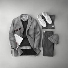 """17.5k aprecieri, 173 comentarii - Phil Cohen (@thepacman82) pe Instagram: """"Gray galore with @jagvi_ 🙌 Styled a few of my favorite pieces from the contemporary French menswear…"""""""