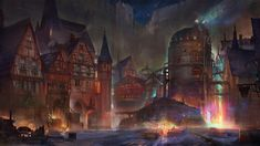 Artist Flavio Bolla did a pretty neat paint of Kalm and its mini-reactor, which is the first town we