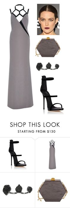 """""""2017 The Turtle Conservancy's Fourth Annual Turtle Ball"""" by belinha-figueiredo ❤ liked on Polyvore featuring Giuseppe Zanotti, Bibhu Mohapatra, Kendra Scott and Edie Parker"""