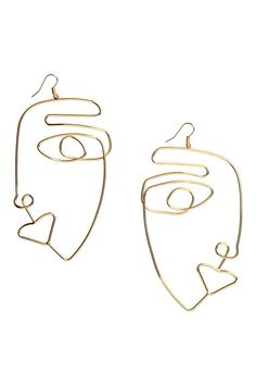 Large earrings - Gold-coloured - Ladies | H&M GB 1