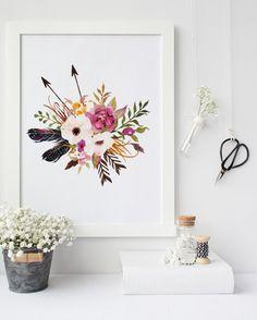 Verkauf: florale Kunst druckbare Wandkunst von PrintableLifeStyle