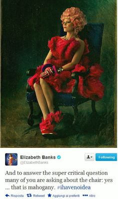 YES! Thank you Elizabeth Banks! Hahaha :)