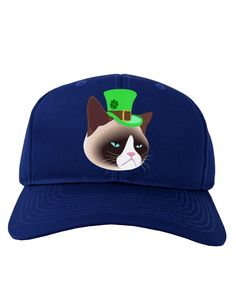 TooLoud Leprechaun Disgruntled Cat Adult Dark Baseball Cap Hat