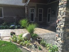Stamped concrete wall and patio by Sierra Concrete Arts. Concrete Patios, Concrete Art, Stamped Concrete, Outdoor Decor, Wall, Plants, Home Decor, Decoration Home, Room Decor