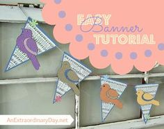 Paper Pennant Banner ~ A Tutorial | An Extraordinary Day