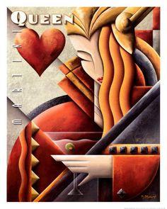 art deco posters   ART DECO - MARTINI QUEEN contents