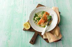 Ensalada de pasta y salmón