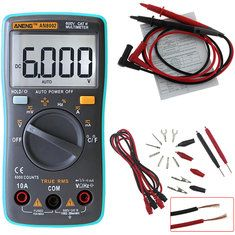 ANENG AN8002 Digital Ture RMS 6000 Counts Multimeter AC/DC Current Voltage Frequency Resistance Temperature Tester ℃/℉ + Test Lead Set