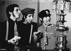 John Entwistle Pete Townshend and Keith Moon of The Who making of the Happy Jack video