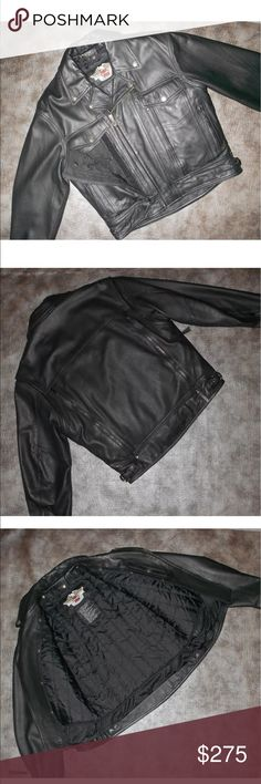 Harley Davidson Men's Leather Nevada Jacket M Hands down one of the nicest Harley ever made. Made in the USA quality- lots of vents a removable liner and concealed carry ( or map) pockets. Soft mid weight leather good for all year here in the NW. You will never need to buy another jacket Harley-Davidson Jackets & Coats