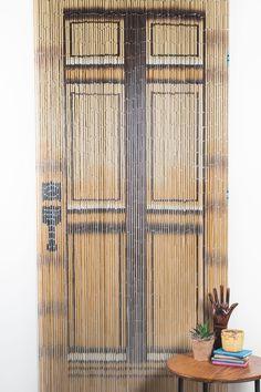 Bamboo Curtain Door Look