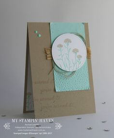 Wild About Flowers, Stitched Shapes Framelits, Softly Falling TIEF retirement card #MyStampinHaven #StampinUp