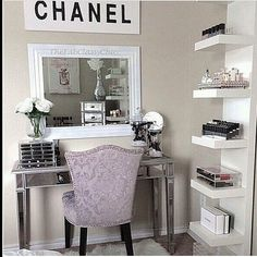 """Find and save images from the """"Room Inspo"""" collection by Lauryn (thiccbinch) on We Heart It, your everyday app to get lost in what you love. My New Room, My Room, Sala Glam, Sweet Home, Home Design, Interior Design, Design Desk, Diy Design, Vanity Room"""