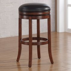 American Woodcrafters Stella Backless Counter Stool - Medium Walnut - B2-200-26L
