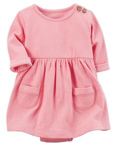 Soft and cozy with a built-in bodysuit, this dress is as sweet as it is easy!