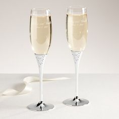 Reed and Barton Seasons of Love Champagne Flutes | Wedding Toasting Flutes $54.95/pr