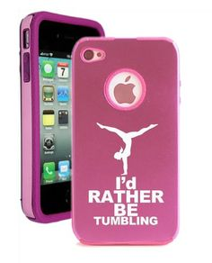 I'd rather be tumbling cell phone case