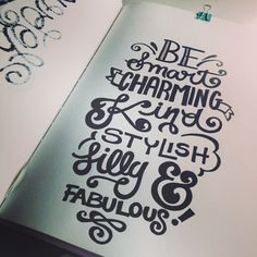 Lettering Daily - Be Smart Charming King Stylish Silly & Fabulous