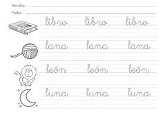 FICHAS ABECEDARIO LETRA CURSIVA by JESSICA bujalance - issuu Letter Tracing Worksheets, Tracing Letters, Kids Learning Activities, Spring Activities, Preschool Sight Words, Busy Book, Teaching Spanish, Kindergarten Worksheets, Kids And Parenting