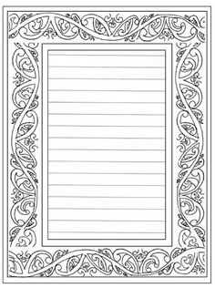 lined thank you paper | Download Lined Frame2