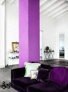 purple velvet sofa <3