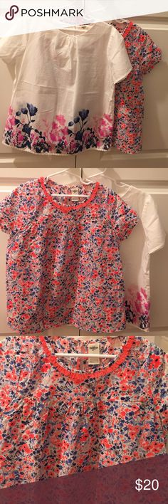 OshKosh Floral Tops Price is for the bundle of 2 tops. Beautifully detailed tops! Brand new without tags. I had every intention of putting these on my daughter but she just didn't like them, but I LOVE them. No stains, tears, or flaws. Osh Kosh Shirts & Tops Blouses