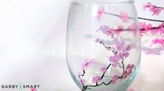 Paint Your Wine Glasses with Cherry Blossoms