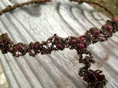 """Entwined Artwear & Gifts"" Custom Artwear Necklace:    Materials: Natural Precious Rubies, ""Entwined"" With Copper."
